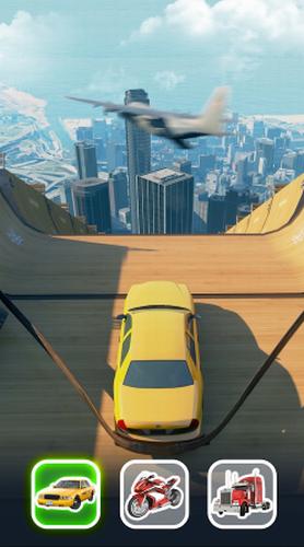 超级坡道汽车跳跃安卓版